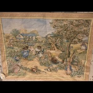 NEW NWT Peter Rabbit Wall Tapestry